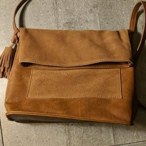 Antik Craft leather and suede cross body bag